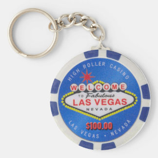 Las Vegas High Roller $100.00 Poker Chip Keychain