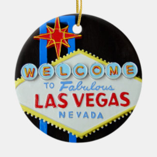 Las Vegas Holiday Season Ceramic Ornament