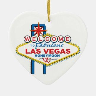 Las Vegas Honeymoon Ceramic Ornament