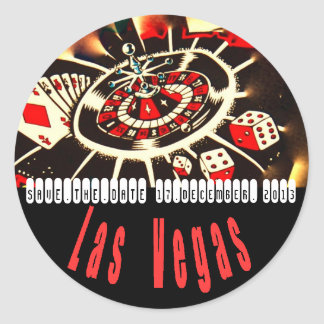 Las Vegas Icons Wedding Plans Classic Round Sticker