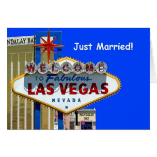 Las Vegas Just Married! Announcement Card