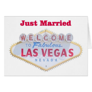 Las Vegas Just Married Cards