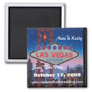 las vegas large, Nate & Kelly, Save The Date, O... Square Magnet