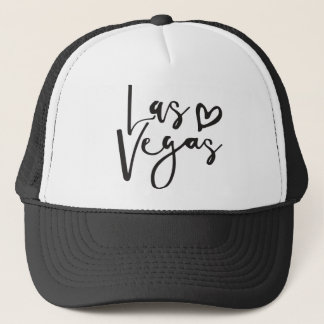 LAS VEGAS LOVE modern minimal handlettered type Trucker Hat