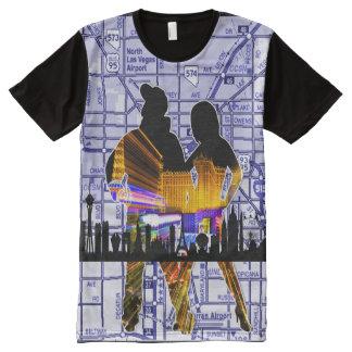 Las Vegas Loyalty City Map All-Over-Print T-Shirt