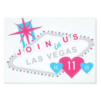 Las Vegas Lucky in Love Sate the Date Card