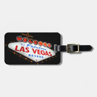 Las Vegas Luggage Tag (Leopard Print)