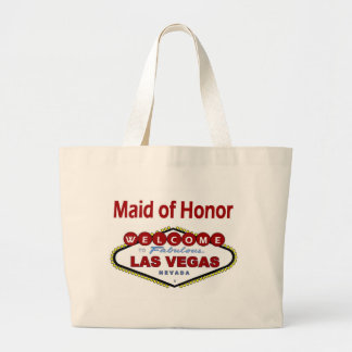 Las Vegas Maid of Honor New Color Deep Red Classic Large Tote Bag