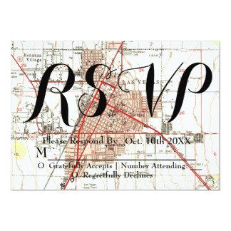 Las Vegas Map Wedding RSVP Card