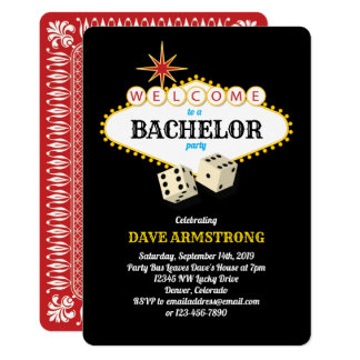 Las Vegas Marquee Bachelor Party Card