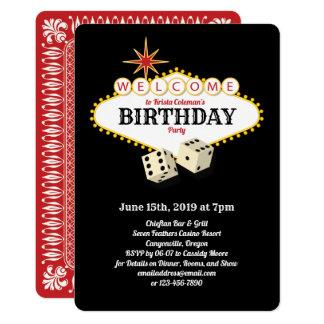 Las Vegas Marquee Birthday Party Black Card