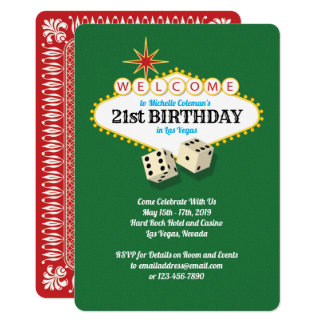 Las Vegas Marquee Birthday Party Green Card