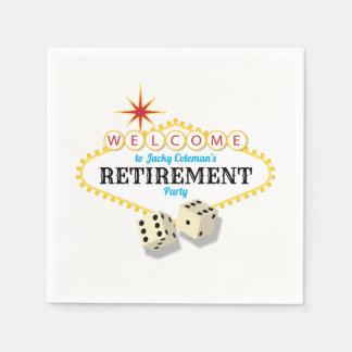 Las Vegas Marquee Retirement Party Paper Napkins
