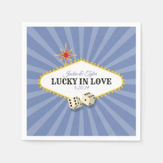 Las Vegas Marquee Wedding in Hydrangea 2 Paper Napkins