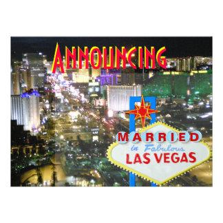 Las Vegas Marriage Announcement with Reception