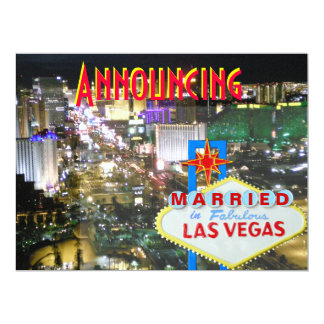 Las Vegas Marriage Announcement with Reception