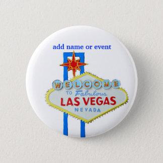 Las Vegas Name Badge 2 Inch Round Button