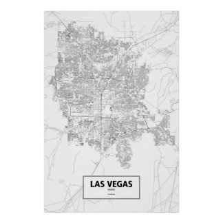 Las Vegas, Nevada (black on white) Poster