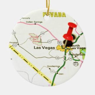 Las Vegas, Nevada Ceramic Ornament
