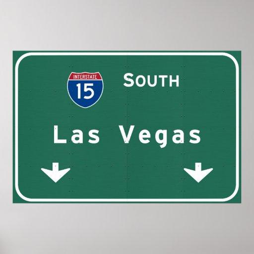Las Vegas Nevada nv Interstate Highway Freeway : Poster