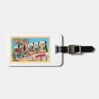 Las Vegas Nevada NV Old Vintage Travel Souvenir Bag Tag