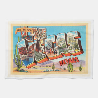 Las Vegas Nevada NV Old Vintage Travel Souvenir Kitchen Towel