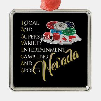 Las Vegas Nevada Souvenir Metal Ornament