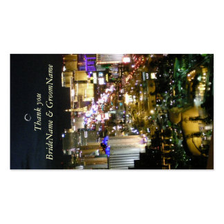 Las Vegas Nevada Thank you Gift Tag Pack Of Standard Business Cards