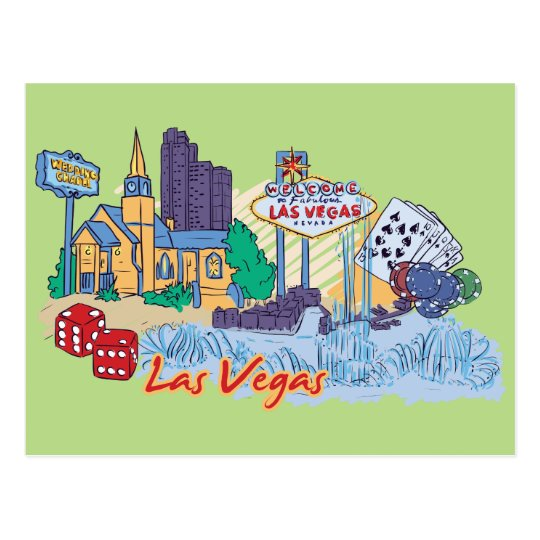 Las Vegas, Nevada US Famous City Postcard
