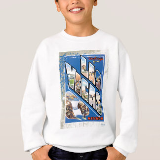 Las Vegas Nevada Vintage Travel Postcard Sweatshirt