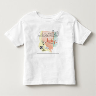 Las Vegas, Nevada | Watercolor Sketch Image Toddler T-shirt