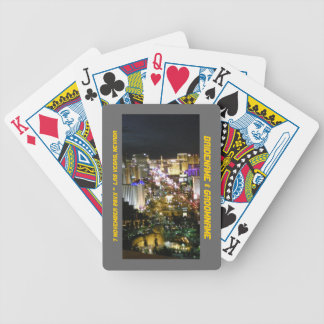 Las Vegas Nevada Wedding Souvenir Bicycle Playing Cards