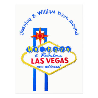 Las Vegas New Address Announcement Postcard