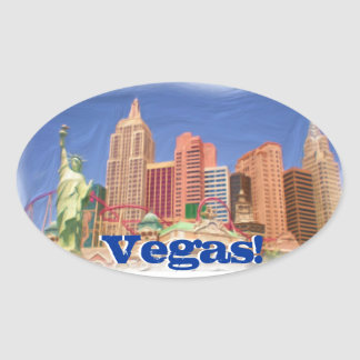 Las Vegas New York New York hotel view stickers