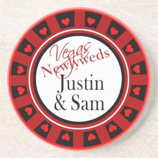 Las Vegas Newlyweds Casino Sandstone Coaster