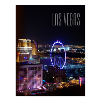 Las Vegas Night Lights Postcard