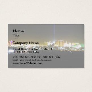 Las Vegas Nighttime Business Card
