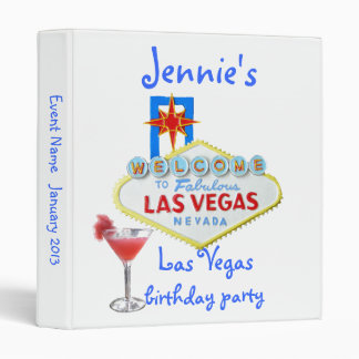 Las Vegas Party Photo Album Binder