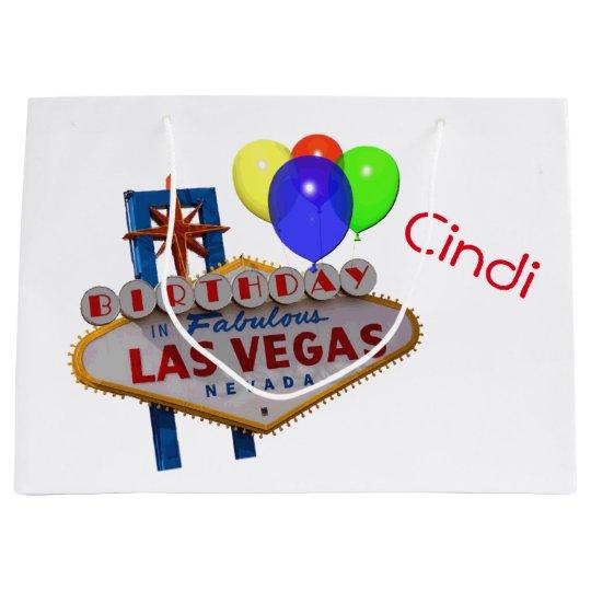 Las Vegas Personalized Birthday Gift Bag