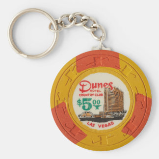 Las Vegas Poker Chip Casino Gambling Obsolete Keychain