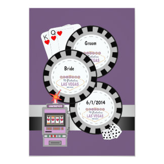 Las Vegas Poker Chip Wedding Invitation