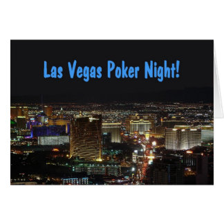 Las Vegas Poker Night Invitation Card!