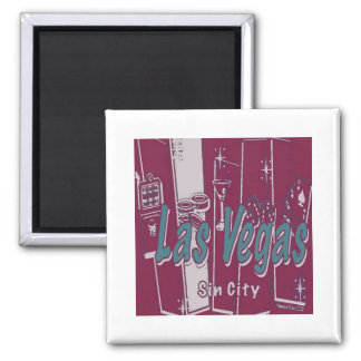Las Vegas Pop Art Magnet