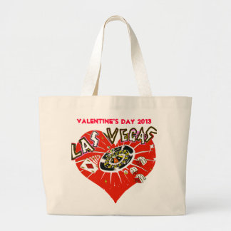 Las Vegas Red Heart Valentine Large Tote Bag