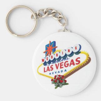 Las Vegas Red Roses Wedding Keychain