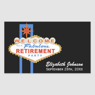Las Vegas Retirement Party Favor Stickers