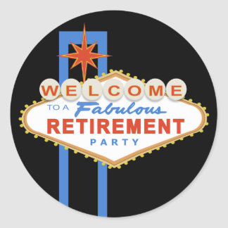 Las Vegas Retirement Party Stickers