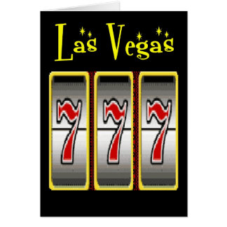 Las Vegas Retro 777 Party Cards