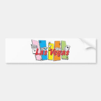 Las-Vegas-Retro Bumper Sticker