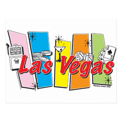 Las-Vegas-Retro Post Card